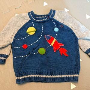 Heartstrings Space Baby Sweater